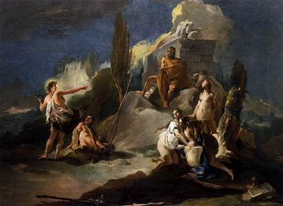 Giovanni Battista Tiepolo: Apollo i Marsjasy