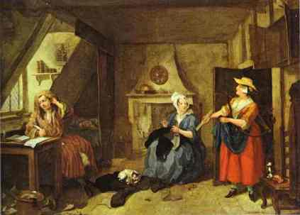 William Hogarth: Zestresowany poeta