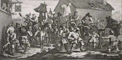 William Hogarth: Hudibras Encounters the Skimmington