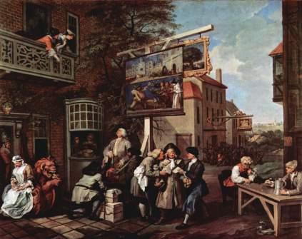 William Hogarth: Zbieranie głosów