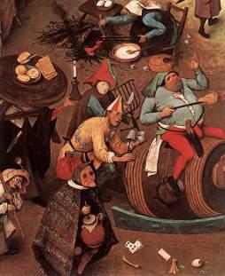 Pieter Bruegel Starszy: Walka postu z karnawałem (detal)