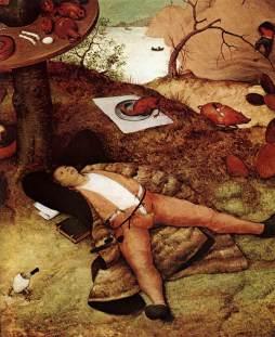 Pieter Bruegel Starszy: Kraina lenistwa (detal)