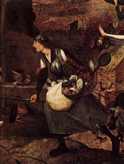Pieter Bruegel Starszy: Szalona Greta (detal)