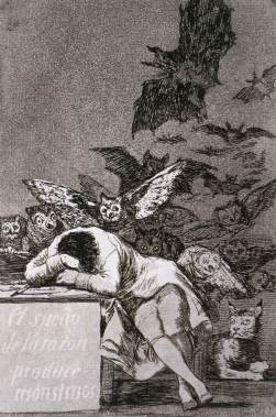 Francisco Goya: Sen rozumu budzi potwory (Los Caprichos)