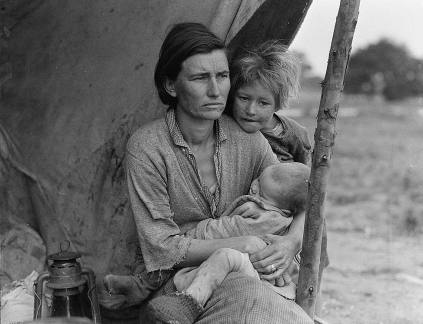Dorothe lange, Depression mom