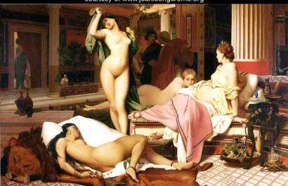 Jean Leon Gerome: Greckie wnętrze