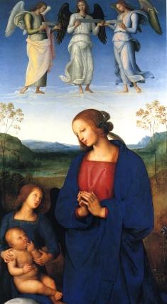 Pietro Perugino: Madonna z Dzieciątkiem i aniołami