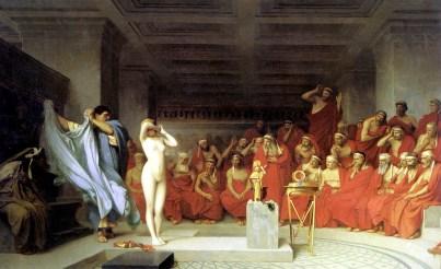 Jean Leon Gerome: Fryne rozdziewająca się przed Areopagiem