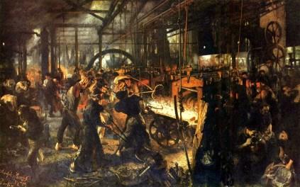 Adolf Menzel, Huta żelaza