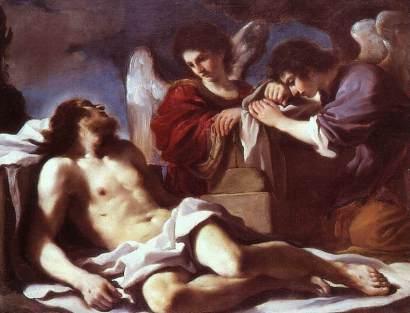 Guercino: Anioły opłakujące Chrystusa