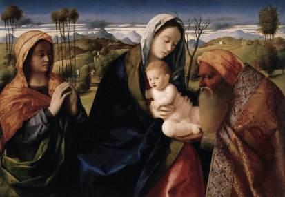 Giovanni Bellini: Madonna z Dzieciątkiem i świętymi