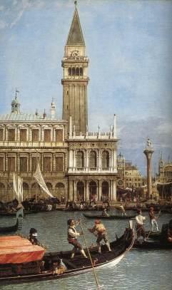 Giovanni Antonio Canal: Powrót z Bucentoro (detal)