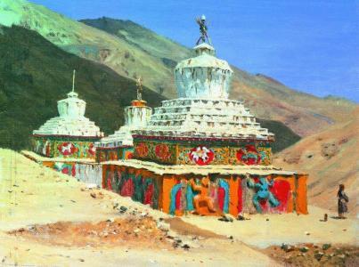 Wasilij Wereszczagin: Stupy w Ladakh