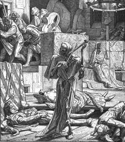 Alfred Rethel: Śmierć przygrywająca na skrzypcach