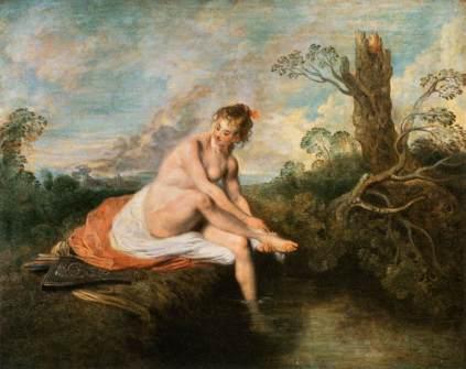 Antoine Watteau: Diana po kąpieli