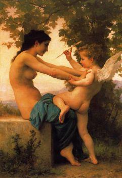 William-Adolphe Bouguereau: Dziewczę broniące się przed Erosem