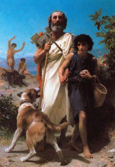 William-Adolphe Bouguereau: Homer z przewodnikiem