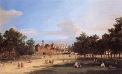 Giovanni Antonio Canal: The Old Horse Guards and Banqueting Hall w Londynie