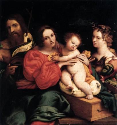 Lorenzo Lotto: Madonna z Dzieciątkiem i świętymi