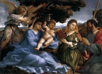 Lorenzo Lotto: Madonna ze świętymi