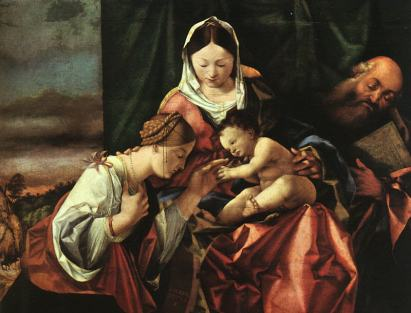 Lorenzo Lotto: Mistyczne zaślubiny św. Katarzyny