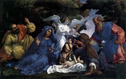 Lorenzo Lotto: Rodzina święta z aniołami