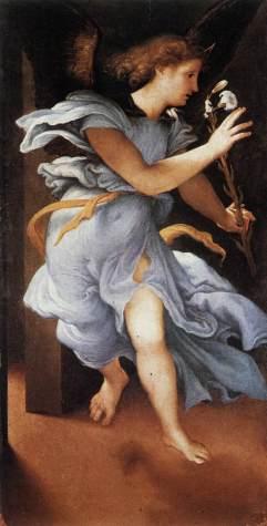 Lorenzo Lotto: Zwiastowanie (detal)