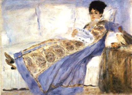 Auguste Renoir, Madame Monet czytająca Le Figaro