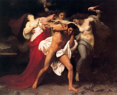 William-Adolphe Bouguereau: Orestes ścigany przez Furie