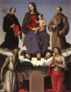 Pietro Perugino: Madonna z Dzieciątkiem i świętymi