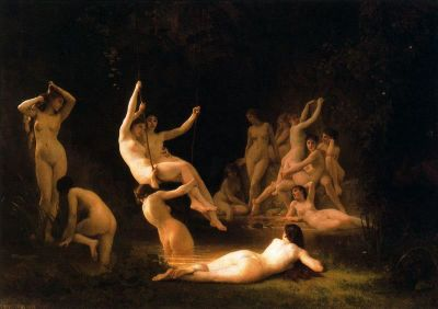 William-Adolphe Bouguereau: Nimfy