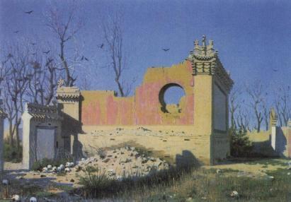 Wasilij Wereszczagin: Ruiny teatru w Czuguczak