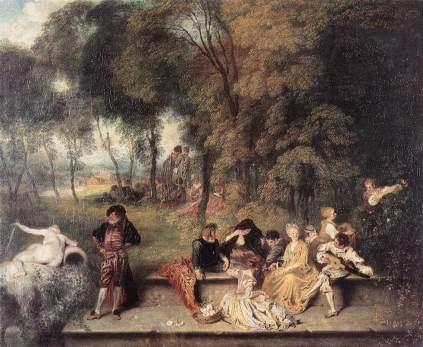 Antoine Watteau: Wesołe towarzystwo