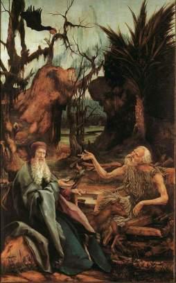 Matthias Grünewald: św. Paweł i św. Antoni