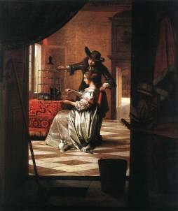 Pieter de Hooch: Para z papugą