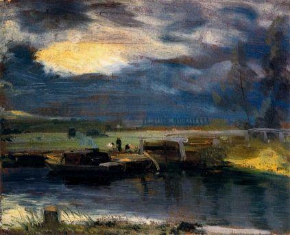John Constable, Łodzie nad śluzą koło Deadham