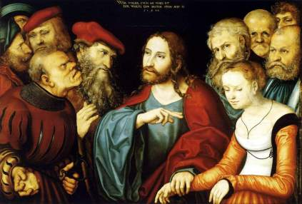 Łukasz Cranach Starszy: Chrystus i jawnogrzesznica