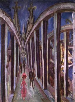 Ernst Ludwig Kirchner: Kolonia. Most przez Ren