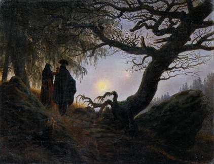 Caspar Dawvid Friedrich: Kobieta i mężczyzna kontemplujący księżyc