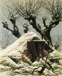 Caspar Dawvid Friedrich: Chata przykryta śniegiem