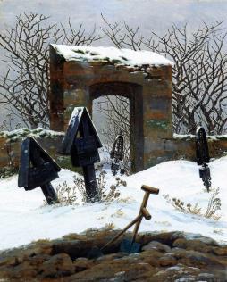 Caspar Dawvid Friedrich: Zaśnieżony cmentarz
