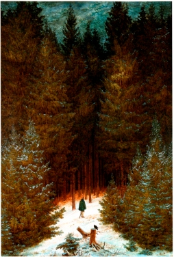 Caspar Dawvid Friedrich: Kirasjer w lesie