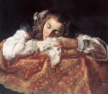 Domenico Fetti: Śpiąca dziewczyna