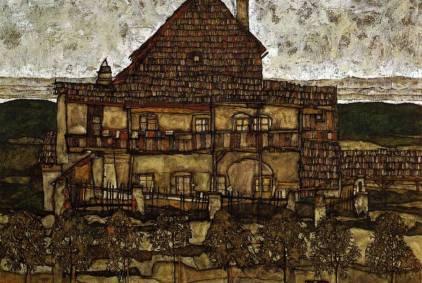 Egon Schiele: Dom kryty gontem