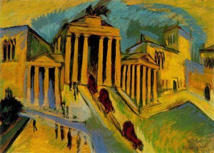 Ernst Ludwig Kirchner: Brama Brandenburska
