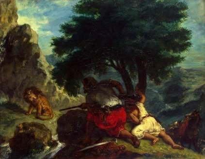 Eugène Delacroix: Polowanie na lwa