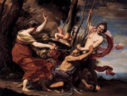 Simon Vouet: Ojciec Czas pokonany przez Miłość, Nadzieję i Piękno