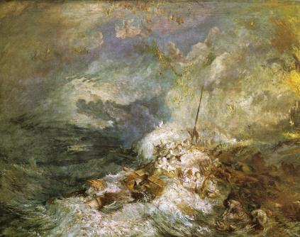 Joseph Turner: Pożar na morzu