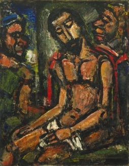George Rouault: Chrystus podtrzymywany przez żołnierzy