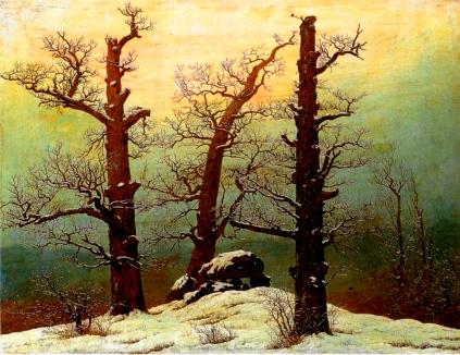 Caspar Dawvid Friedrich: Dolmen w śniegu